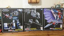 Takara Tomy Transformers Masterpiece MP-36 MP-11 MP-13 Complete Set