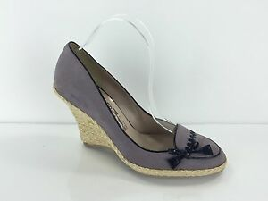 Salvatore Ferragamo Womens Dust Purple Wedges 7 B Ebay