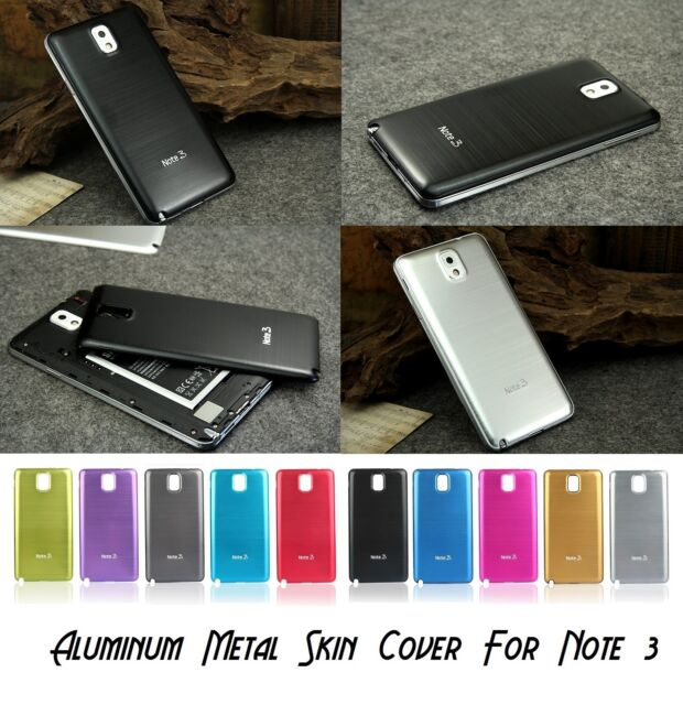 Aluminum Metal Battery Housing Back PC Cover Case For Samsung Galaxy Note 3