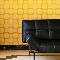 Missing Link Stencil Wall Pattern - Stencils For Diy Decor - Trendy Wall Designs
