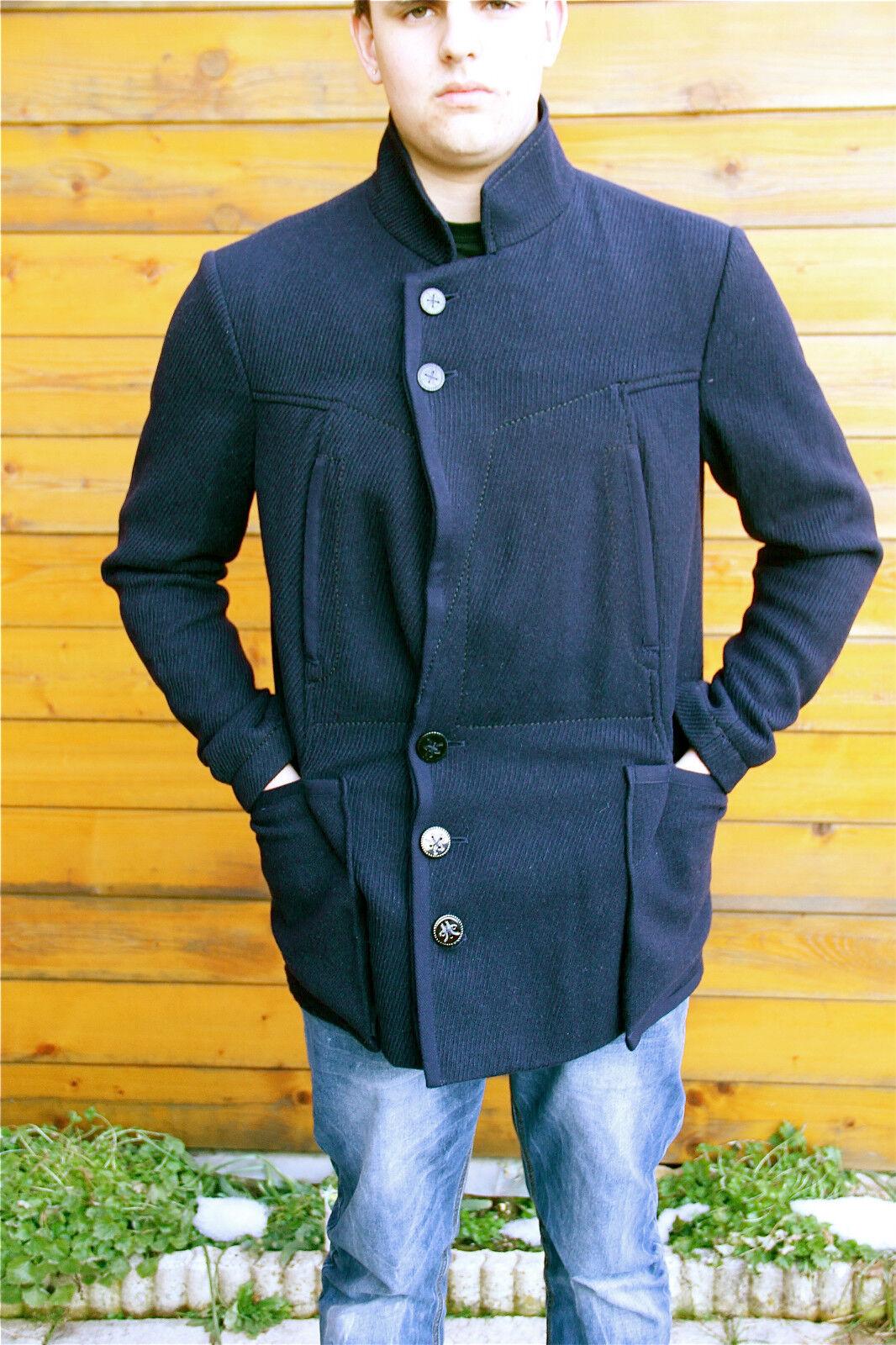 Abrigo chaqueta de hombre sábana de lana m& FRANÇOIS GIRBAUD T M ETIQUETA V