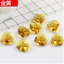 wholesale 10//50//100pcs Heart-shaped crystal straight hole Loose beads 14mm