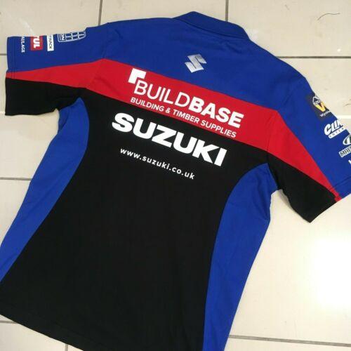 Genuine Suzuki 2019 Buildbase BSB British Superbike Polo Shirt S M L XL XXL
