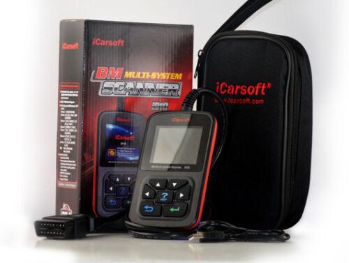 iCarsoft i910 OBD Tiefen-Diagnose Motor ABS Airbag PDC Löschen Lesen für BMW