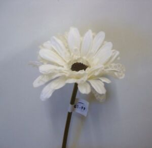 Pack x12 stems cream lace gerbera artificial silk flowers clearance image is loading pack x12 stems cream lace gerbera artificial silk mightylinksfo