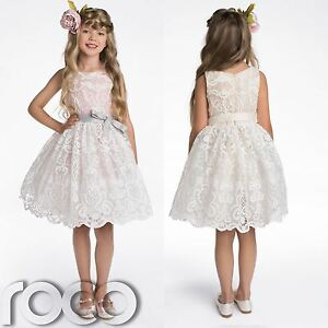 2e7db40a5 Image is loading Flower-Girl-Dresses-Bridesmaid-Dress-Champagne-Dress-Pink-