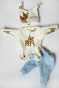 """5-6 /"""" OOAK Baby Doll Clothes Bodysuit Cap Pants Tiny OOAK baby"""