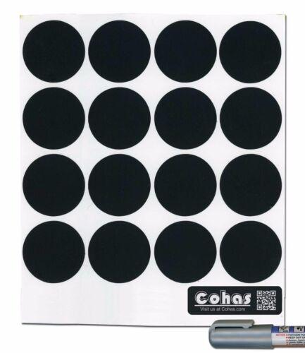 Cohas Chalkboard Sm Spice Jar Labels fit Libbey 4 1//2 oz w//wo Chalk Marker