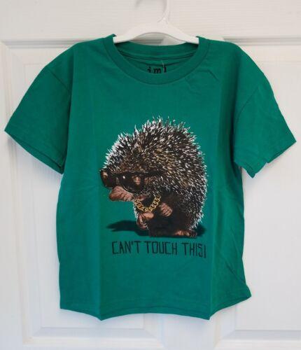 Animal Boys Hedgehog Graphic T-Shirt IML XS Green L M S Porcupine XL