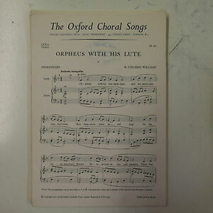 choral-vocal-score-ORPHEUS-WITH-HIS-LUTE-shakespeare-vaughan-williams-UNISON