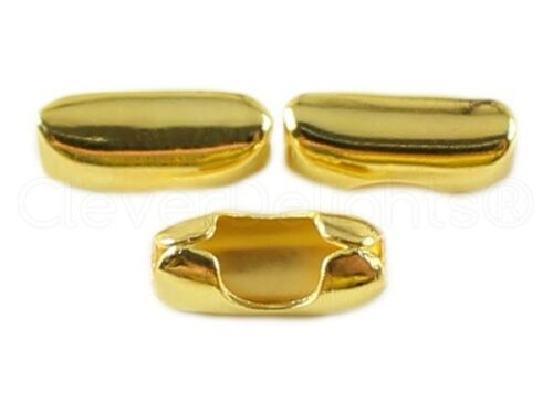 #6 Connector Links 100 Ball Chain Clasps Gold For 3.2mm Chains