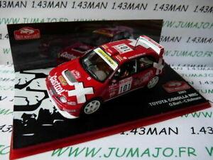 voiture-1-43-IXO-altaya-Rallye-Monte-Carlo-TOYOTA-Corolla-WRC-2003-Burri