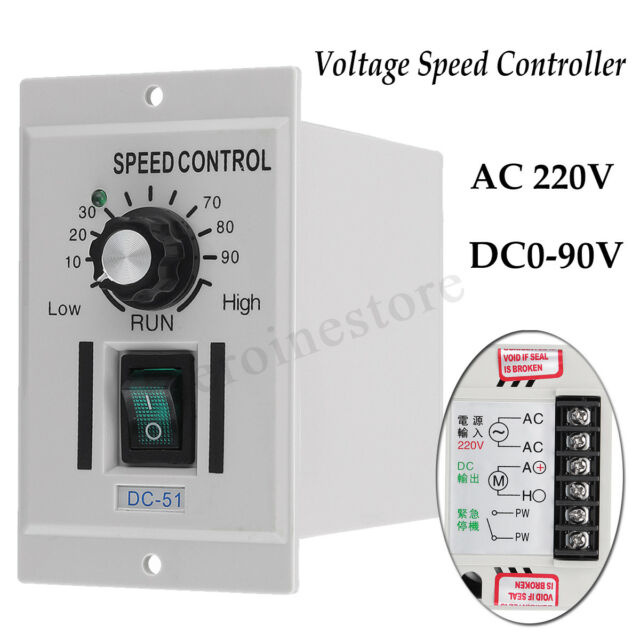400W AC 220V To DC 0-90V Motor Stepless Rotary Knob Voltage Speed  New