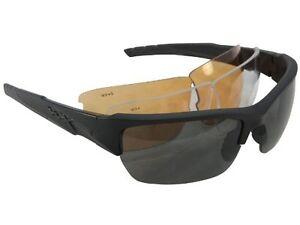 ec9c9351a9 Wiley X Valor Sunglasses-Smk. Grey Clear Lt. Rust Lenses-Black Frame ...