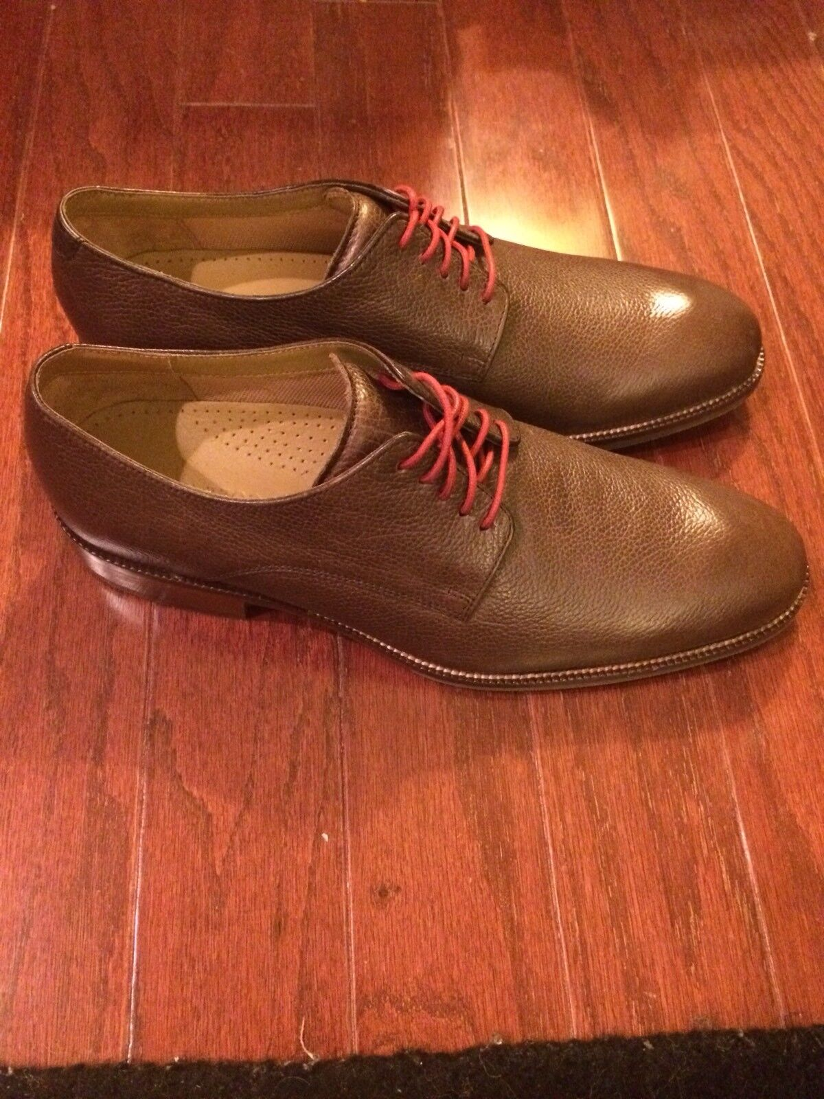 COLE HAAN BROWN LEATHER LACE UP SHOES MEN'S 10 M C12660