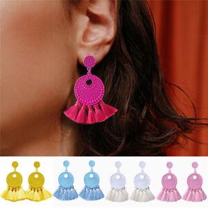 Bohemian-Women-Vintage-Boho-Fringe-Tassel-Earrings-Dangle-Stud-Earring-Jewelry