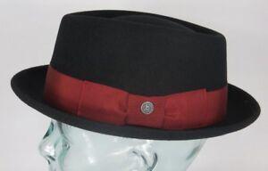 7a2058fba7d Bugatti Pork Pie Hat Wool Felt Black Trilbyhut Felt Hat Small ...