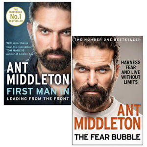Ant-Middleton-2-Books-Collection-Set-The-Fear-Bubble-First-Man-In-NEW