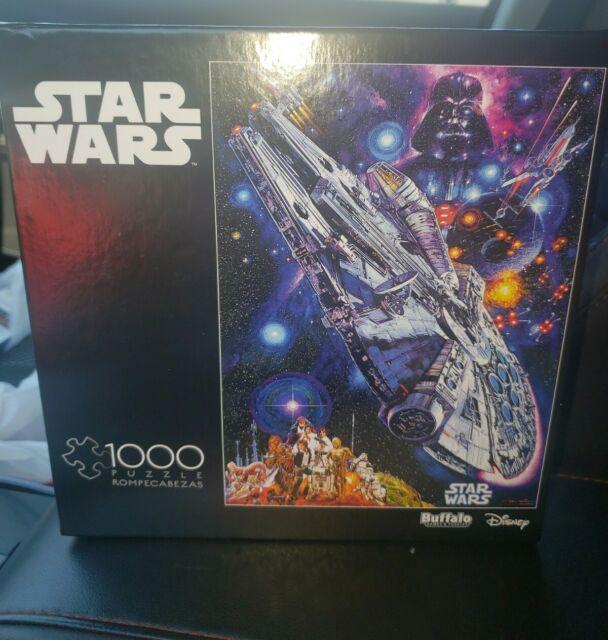 Star Wars 1000 Piece Jigsaw Puzzle  Millennium Falcon Buffalo Games Sealed 10600