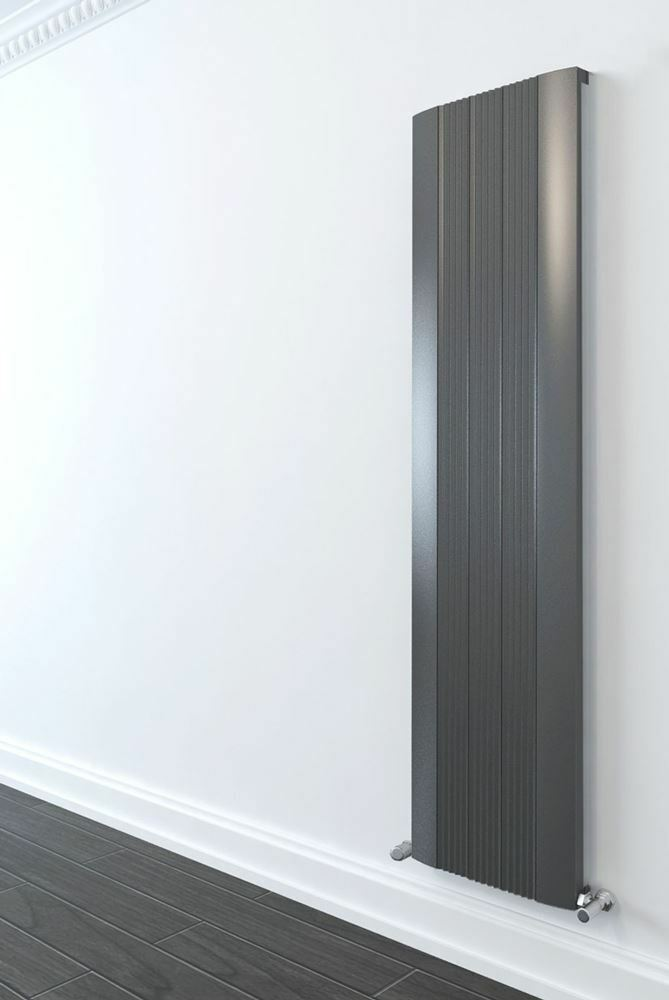 470mm x 1800mm  Supreme  Single Single Single Grünical Anthracite Aluminium Radiator 5584 BTUs 570db1