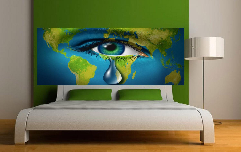 Aufkleber -kopf Bett Wanddekor Auge Ref 3665 (5 Größe)