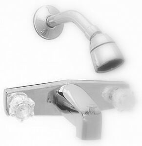 bath tub faucet and shower head for mobile homes and rvs ships free ebay. Black Bedroom Furniture Sets. Home Design Ideas