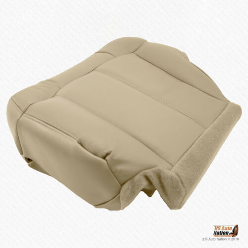 2000 2001 2002 Chevy Tahoe Suburban LT Z71 Driver Bottom Leather Seat Cover Tan