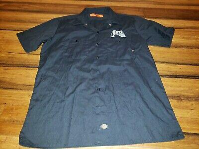 TROEGS BREWING Hershey PA ~ Mens MED ~ Dickies L//SLV Beer Delivery Work Shirt