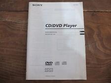 Sony DVP S 715 / S 315 Bedienungsanleitung TOP !!! Reinschauen !!!