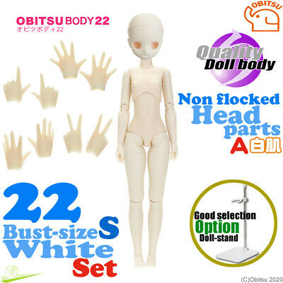 Obitsu 27 Male Body Natural /& 02 Non Flocked Head parts set Flection Doll Figure