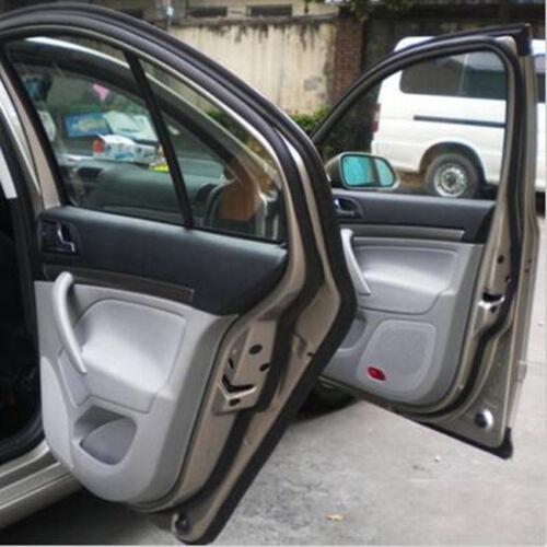 Black 4M Waterproof Car Z-Shape Window Door Pad Rubber Seal Weather Strip Decal