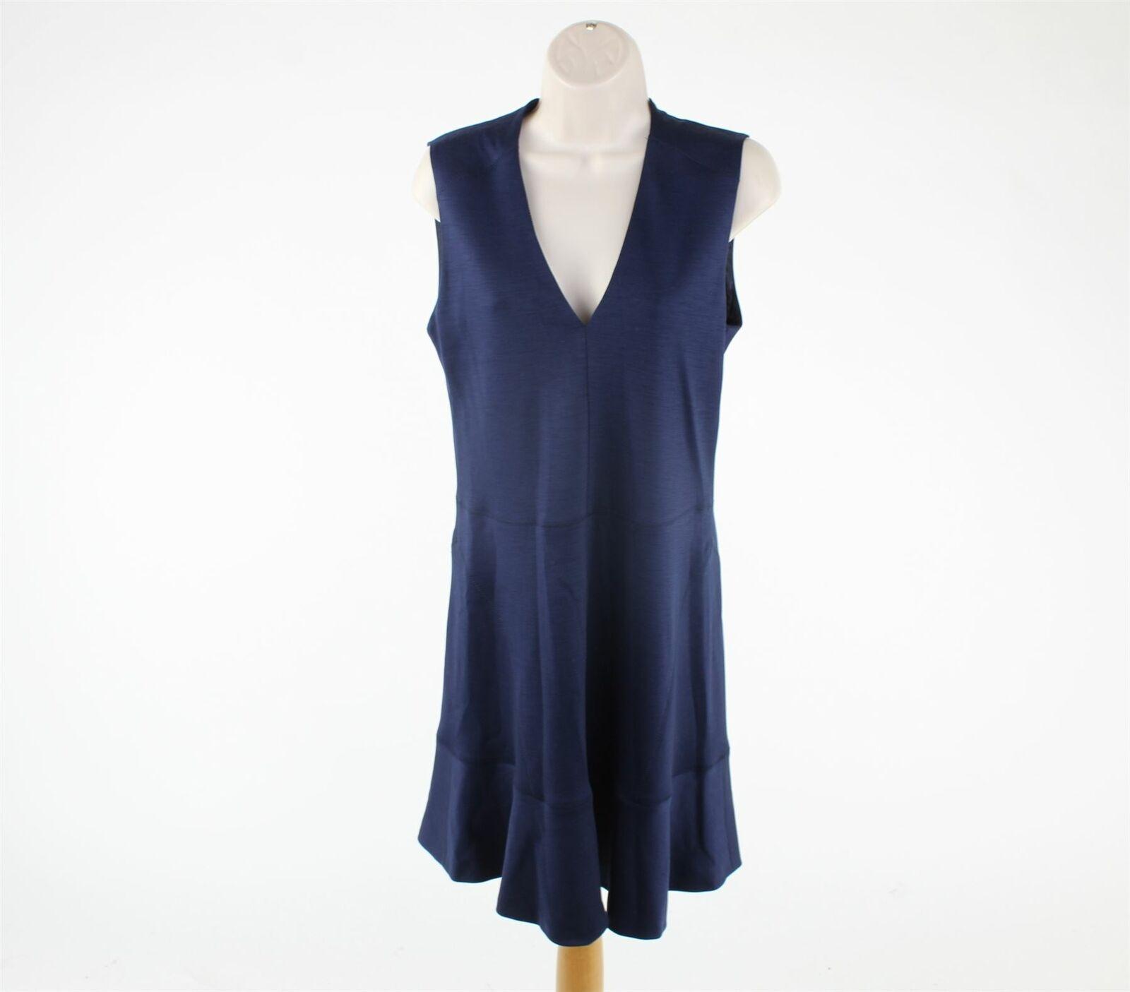 JOSEPH Navy Blau Wool Blend Dress, UK 12 US 8 EU 40