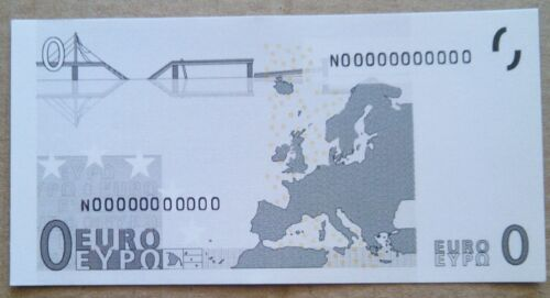 0 EURO BANKNOTE NOTE GREECE FROM BUNDLE NOVELTY