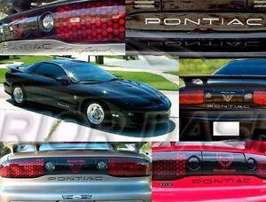 Pontiac FireBird Trans Am 1993-2002 Piano Black Rear Bumper Insert Letters