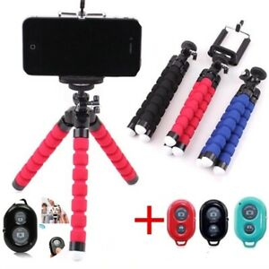 Remote-Control-Stand-Mobile-Phone-Camera-Holder-Support-Flexible-Tripod-Selfie