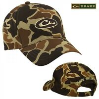 Drake Waterfowl 100% Waterproof Old School Camo Hunting Hat Cap -