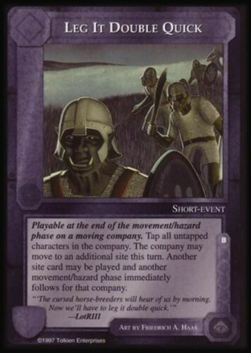 MECCG CCG Middle-earth Leg It Double Quick The Lidless Eye LE MINT