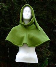 Damen Herren Gewandung Mittelalter Reenactment LARP Gugel Wolle hellgrün