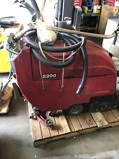 Cat Model 220 Walk Behind Floor Scrubber Sweeper Sweep Path 32 Inches Powered