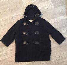 Burberry Kids Wool Toggle Hooded Duffel Coat Size 4