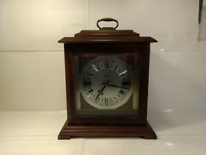 Details About Vintage Bulova Wooden Chiming Mantel Clock Hd419