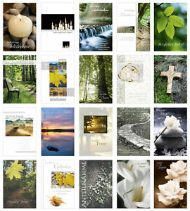 Set 20 einfühlsame Trauerkarten/Beileidskarten mit Umschlag (20072)