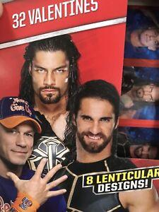 Wwe Wrestling Box Of 32 Lenticular Valentines Day Cards John Cena