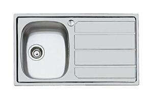 Foster S1000 lavello metallo spazzolato 86x50x17 cm | Acquisti ...