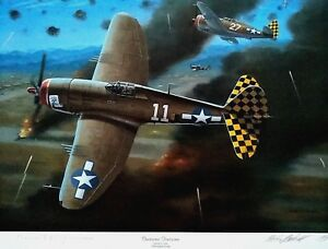 Fearsome Foursome P-47 Thunderbolts Signed Col. Herschel H. Green Mike Machat