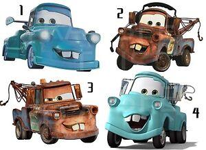 cars iron on t shirt fabric transfer disney mater tokyo blue lot c4