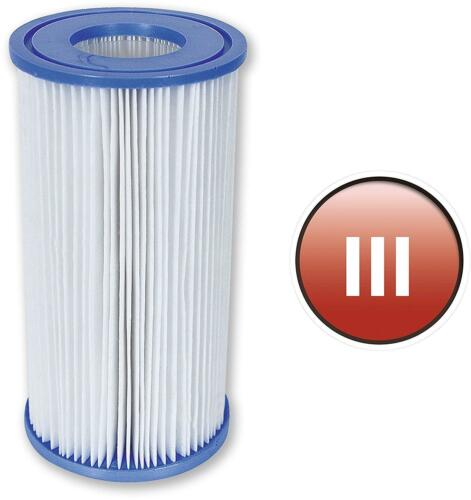 Bestway Swimming Pool Filter Cartridge Replacement Water Cleaner 3 Pack 4.2 x 8/""