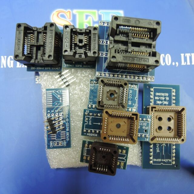 8 Programmer Adapters Sockets Kit for Ezp2010 Tl866a Tl866cs With IC  Extractor