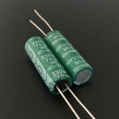 50pcs 330V 70uf 330V Samcon PH 10x30mm Photo Flash capacitor