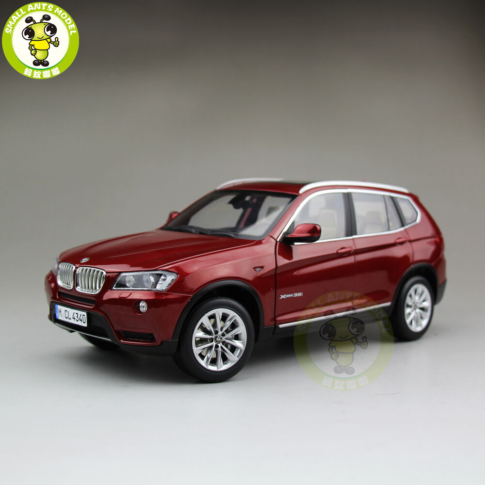 1 18 BMW X3 F25 xDrive 35i RMZ MODEL Diecast Model Car SUV Red